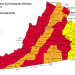 virginia radon map